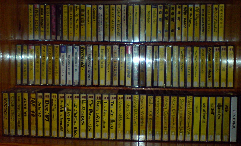 Another shelf full of audio tapes