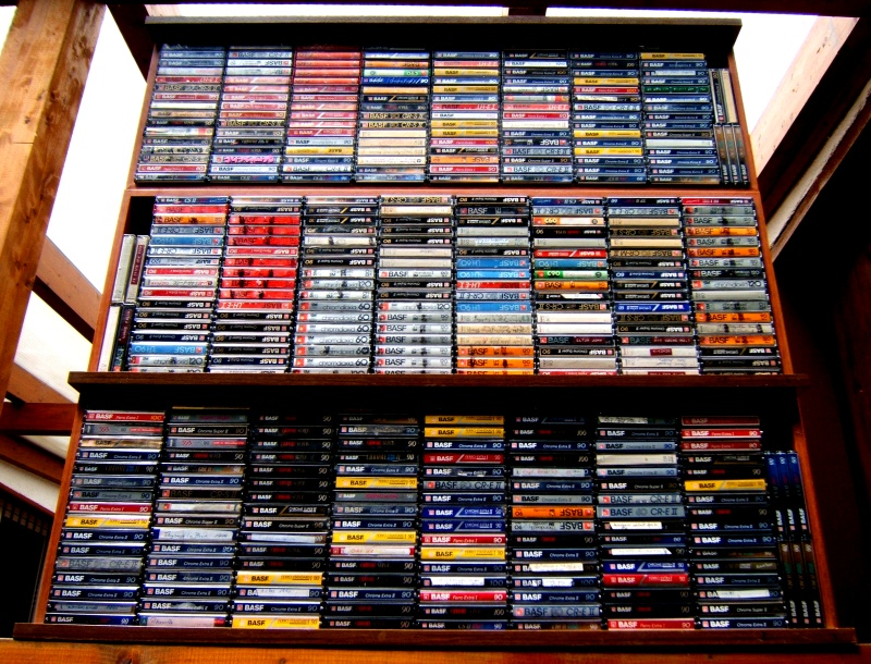 Drawers of BASF tapes