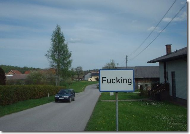 ...a town called 'Fucking'