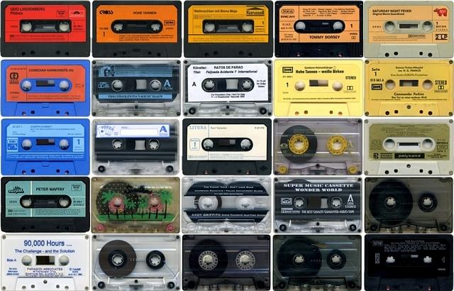 5 x 5 cassette tape grid