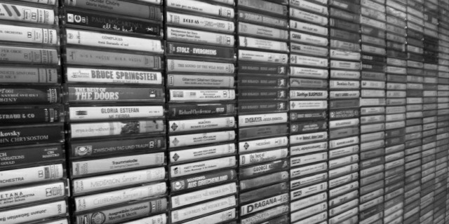 Wall of tapes
