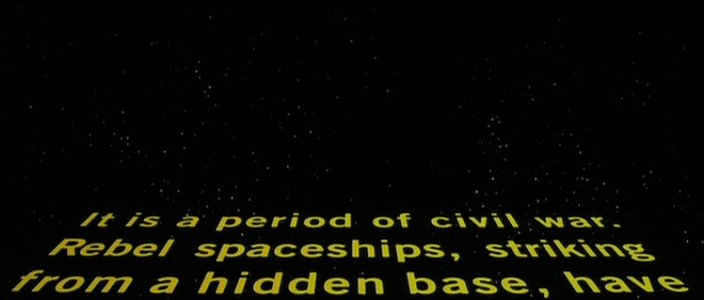 Star Wars DVD opening crawl