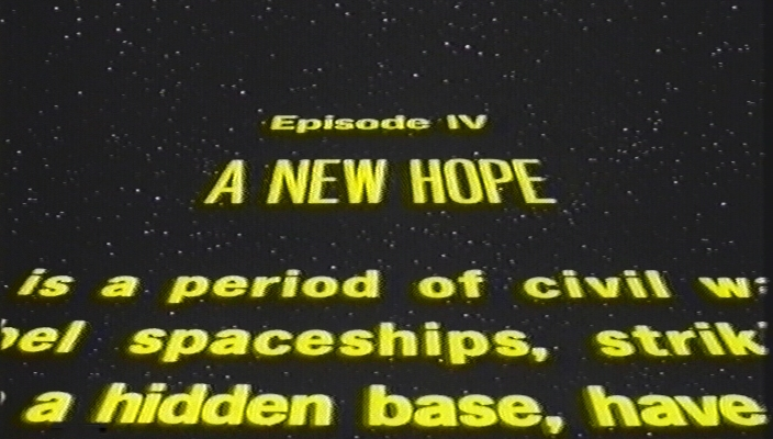 Star Wars VHS opening crawl