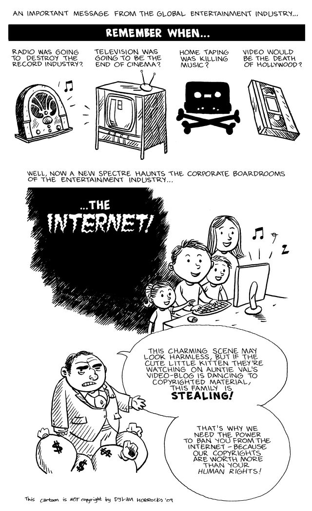 An important message from the global entertainment industry (image via the Pirate Bay)