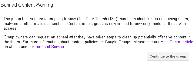 Banned Content Warning